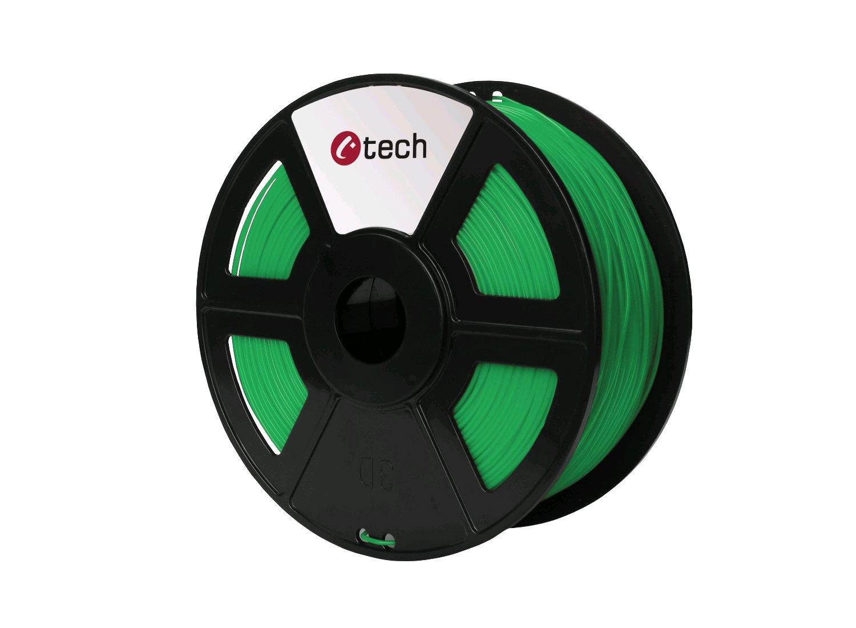 ABS GREEN zelená C-TECH, 1,75mm, 1kg - 3DF-ABS1.75-G