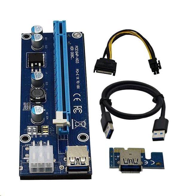 Kabel C-TECH PCI-Express riser RC-PCIEX-01C - RC-PCIEX-01C