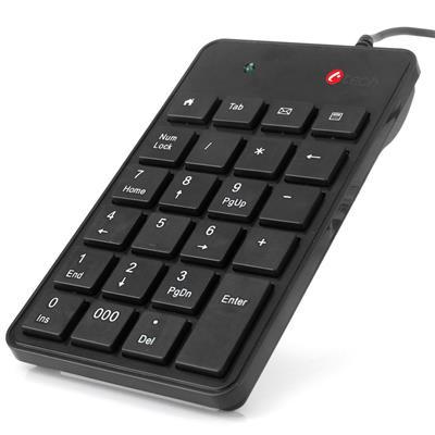 C-TECH KBN-01, numerická, 23 kláves,USB slim black