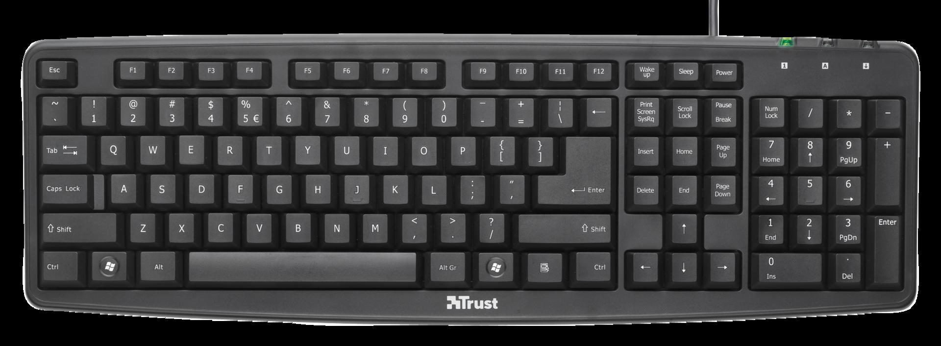 klávesnice TRUST ClassicLine Keyboard SK