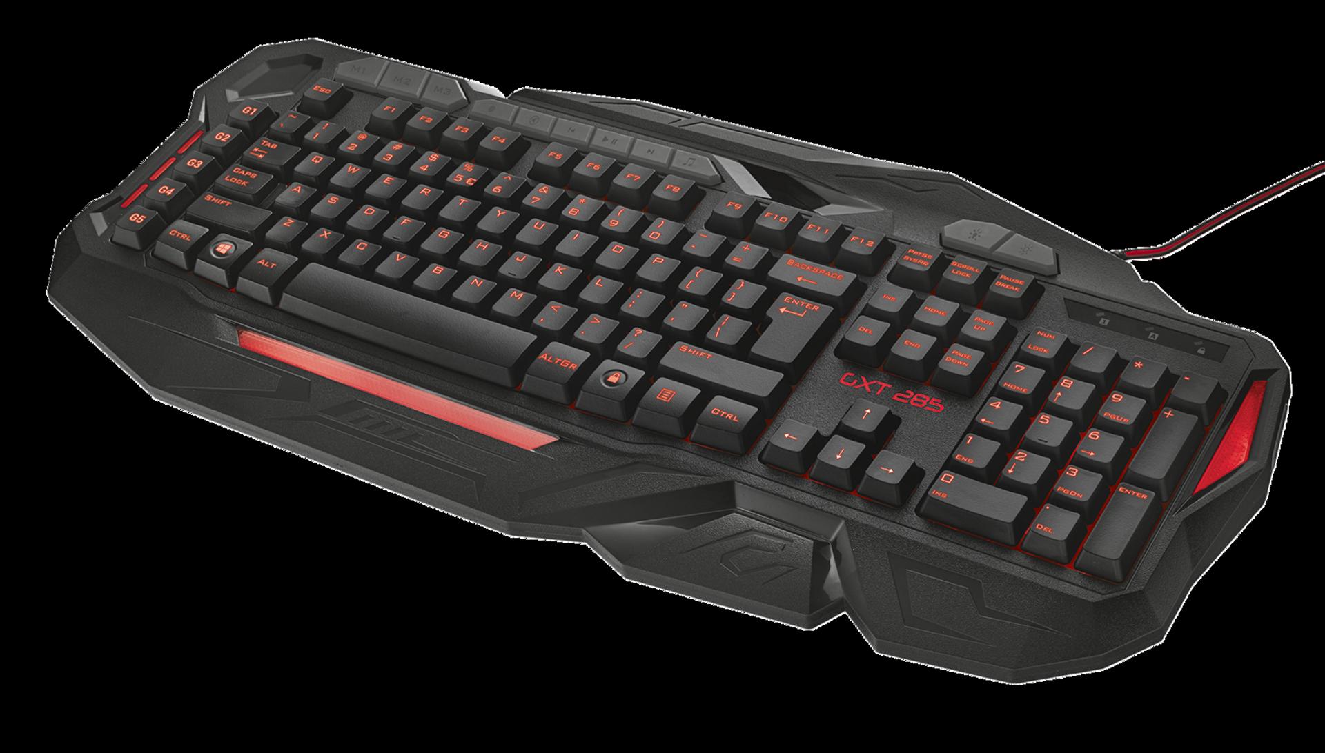 kláv. TRUST GXT 285 Advanced Gaming Keyboard US
