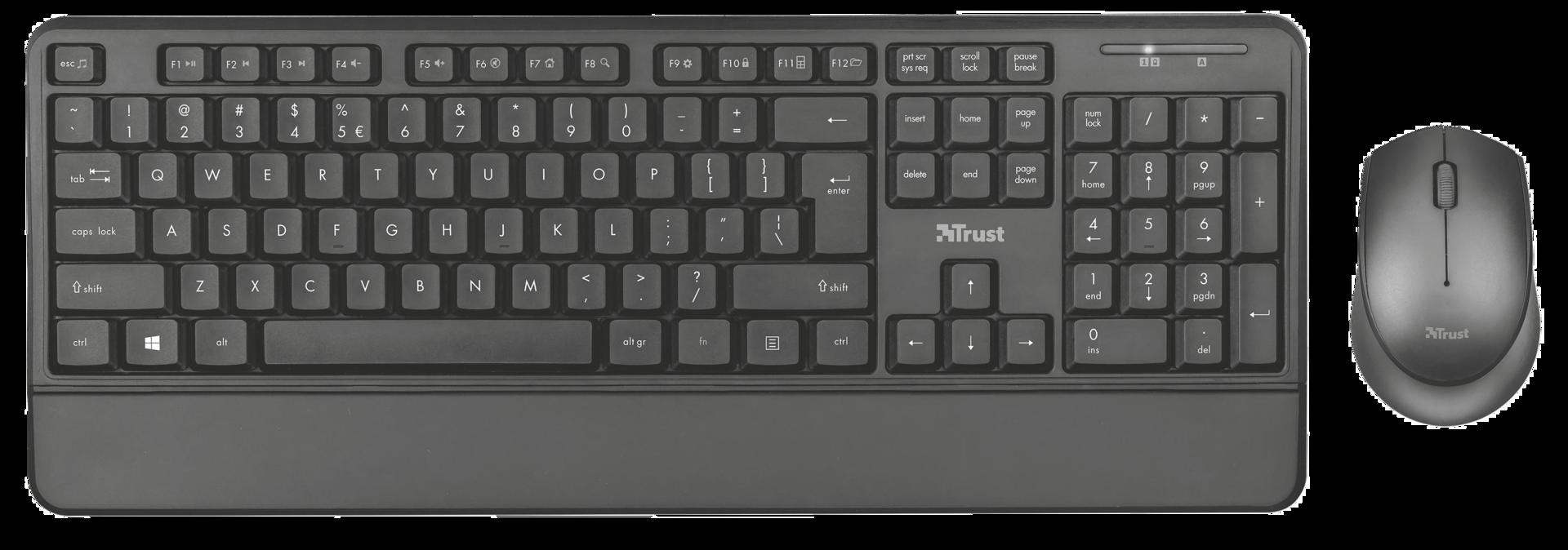 set TRUST Thoza Wireless Keyboard and Mouse