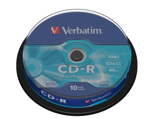 VERBATIM CD-R(10-Pack)Spindl/52x/700MB