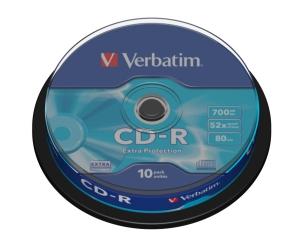 VERBATIM CD-R(10-Pack)Spindl/52x/700MB