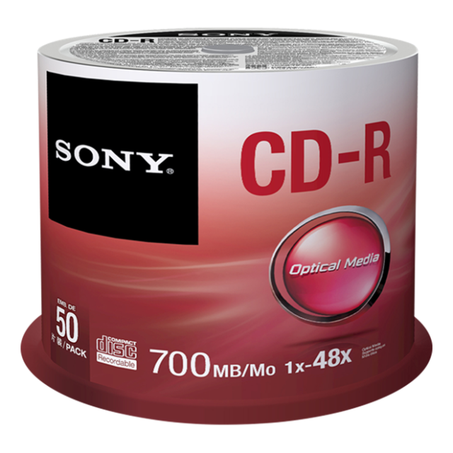 Média SONY CD-R  50CDQ-80SP,bal.50ks,SPINDL