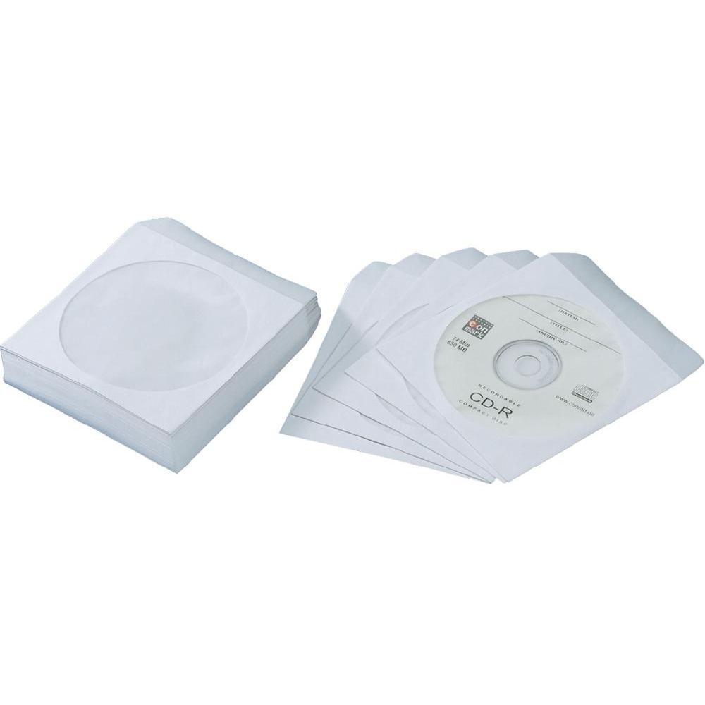 Papírová obálka pro CD nebo DVD s okénkem 100 ks - K-125X125/B