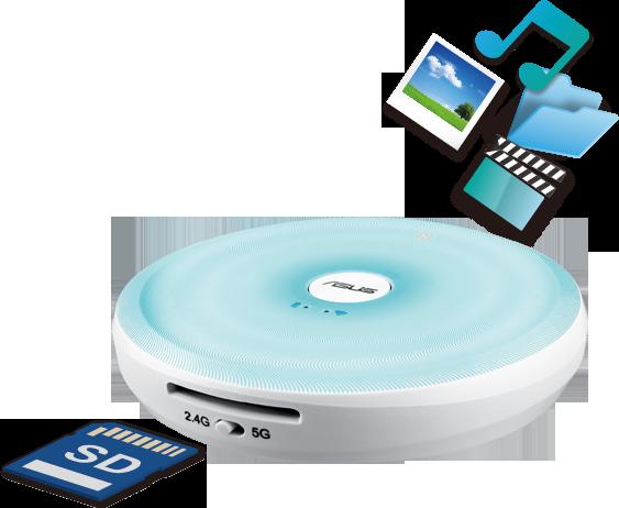 ASUS TravelairAC 32GB eHDD USB3, WiFi+NFC, baterie, SD reader