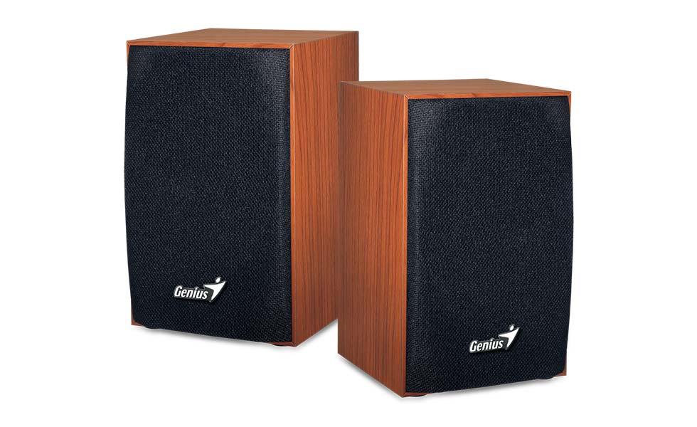 Speaker GENIUS SP-HF160 wooden SPK 2WX2 USB, wood