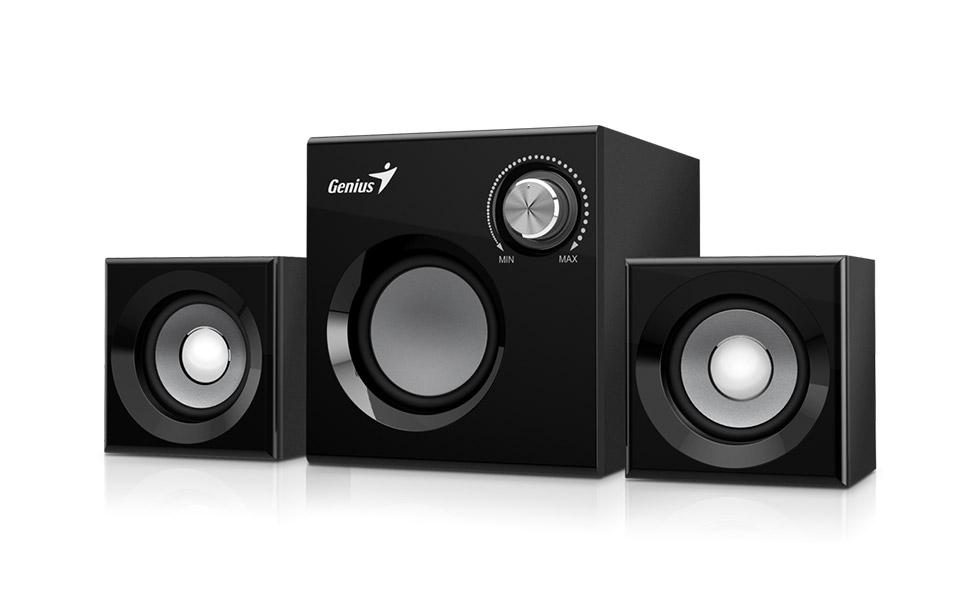 Speaker GENIUS SW-2.1 370 BLK SPK 8W (6W+1W X 2)