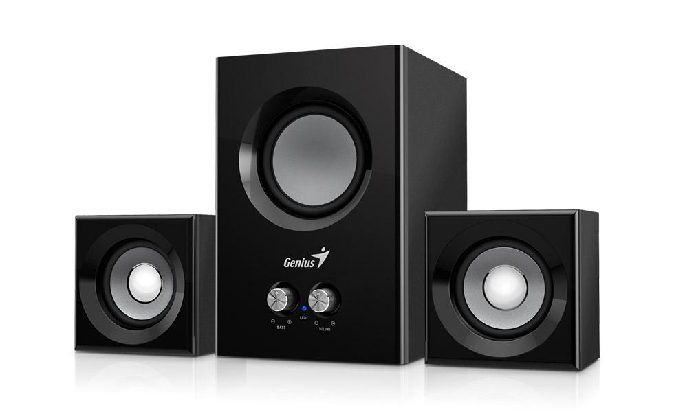 Speaker GENIUS SW-2.1 375 BLK SPK 12W (6W+3W X 2)