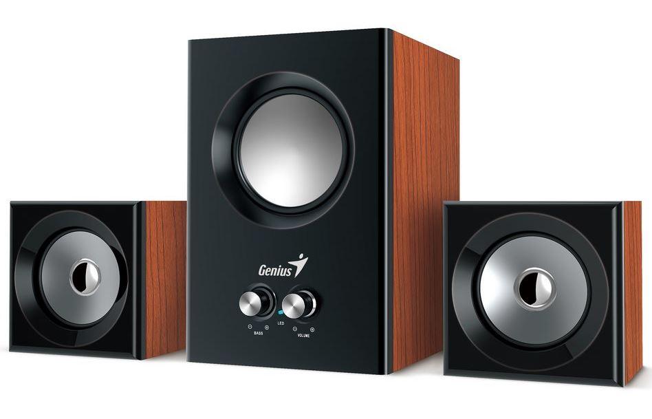 Speaker GENIUS SW-2.1 375 WOOD SPK 12W (6W+3W X 2)