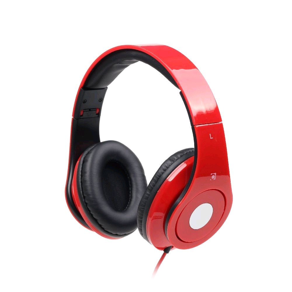 Gembird Sluchátka s mikrofonem DETROIT, červené