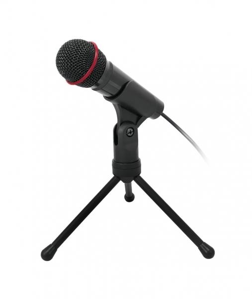 Stolní mikrofon C-TECH MIC-01, 3,5'' stereo jack, 2.5m - MIC-01