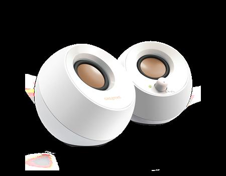 Speaker CREATIVE Pebble USB, 2.0, white - 51MF1680AA001