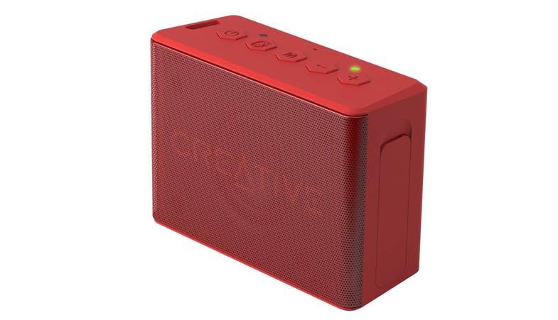 CREATIVE CHRONO Wireless speaker alarm clock,red