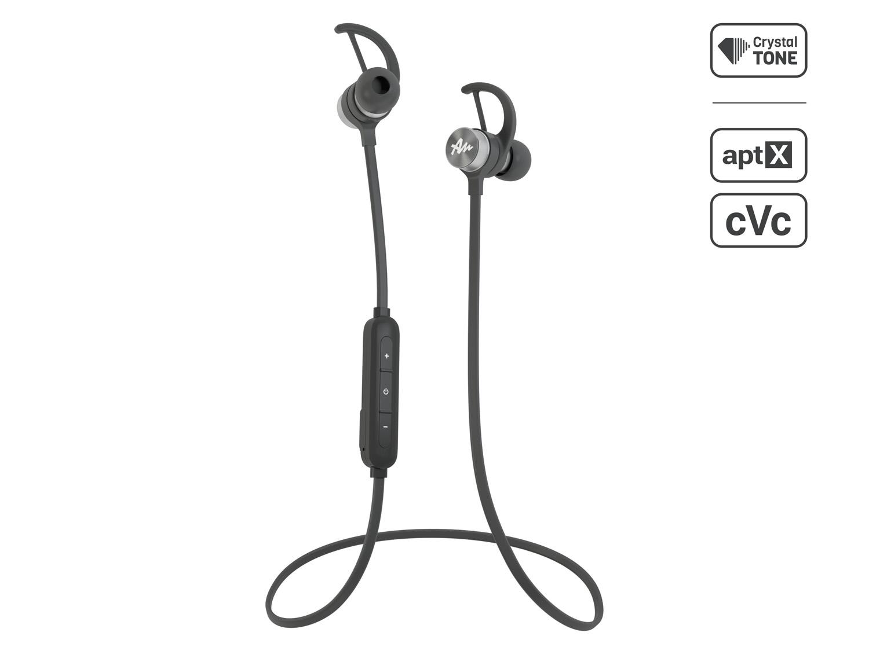 Sportovní bezdrátové sluchátka do uší Audictus Adrenaline 2.0, BT 4.1, černo-stříbrné