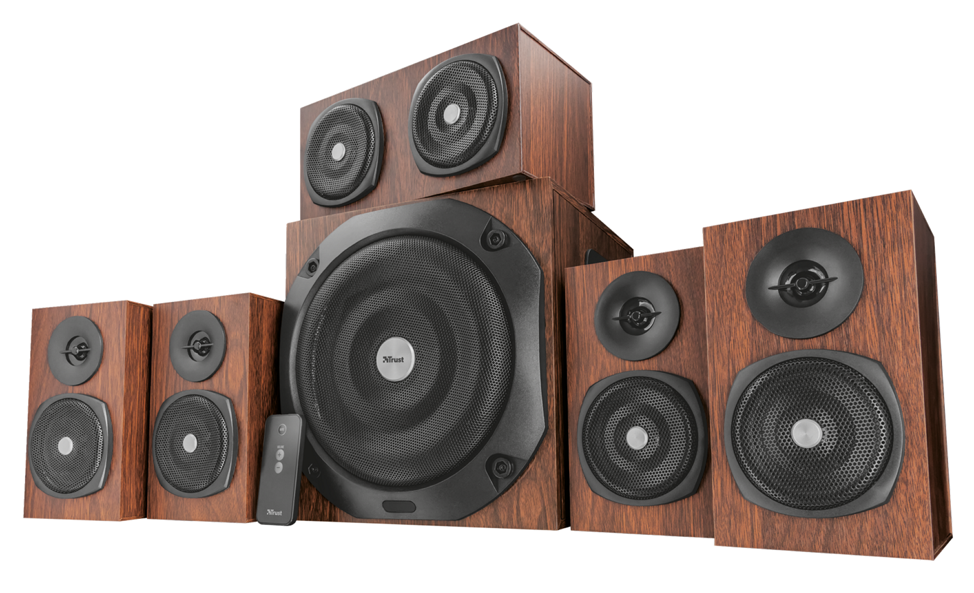 zvuk. systém TRUST Vigor 5.1 Surround Speaker System for pc - brown