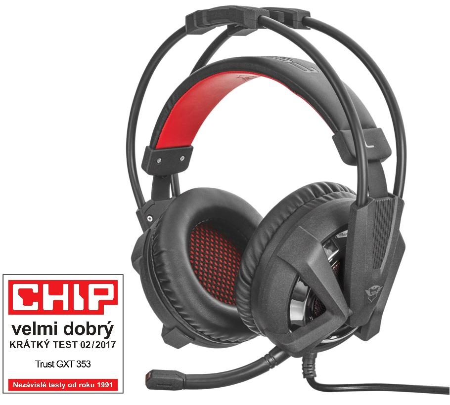 náhlavní sada TRUST GXT 353 Vibration Headset for PS4