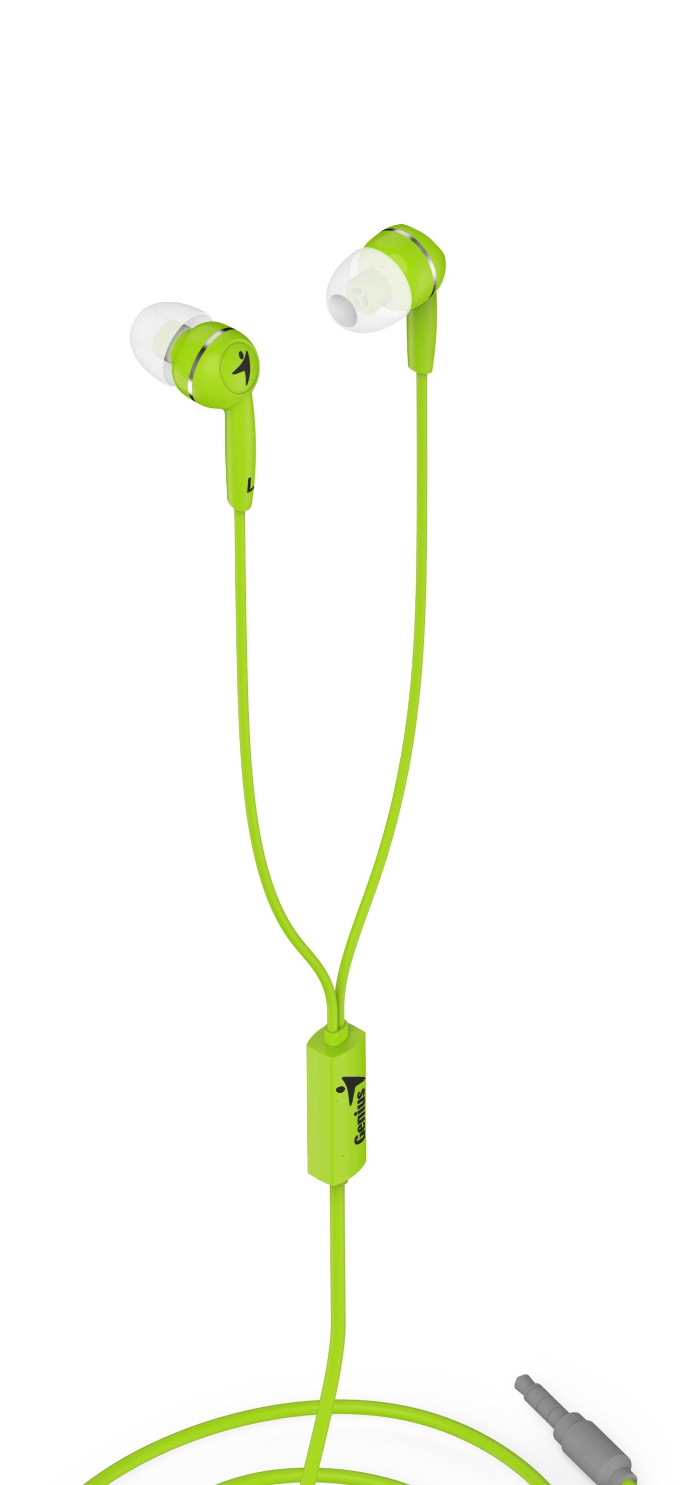 Sluchátka Genius HS-M320 mobile headset, green - 31710005416
