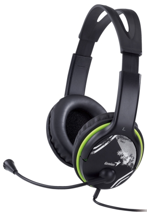 Sluchátka s mik. GENIUS HS-400A green
