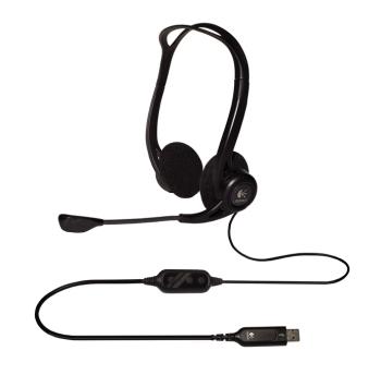 akce_náhlavní sada Logitech PC 960 Stereo Headset, USB