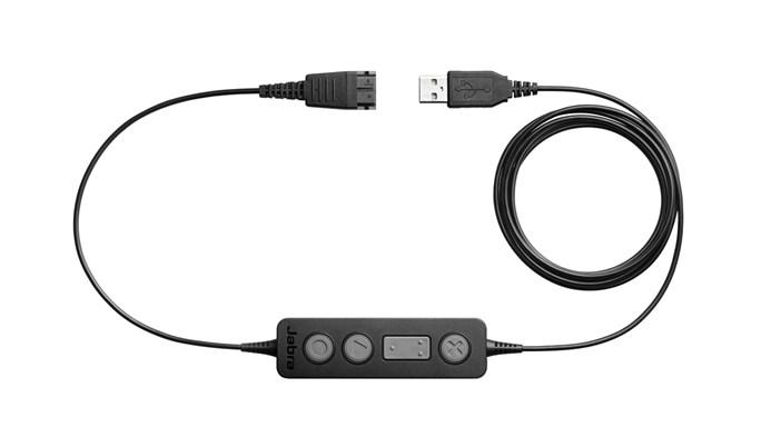 Jabra Link 260, QD-USB, ovl. tlačítko - 260-09