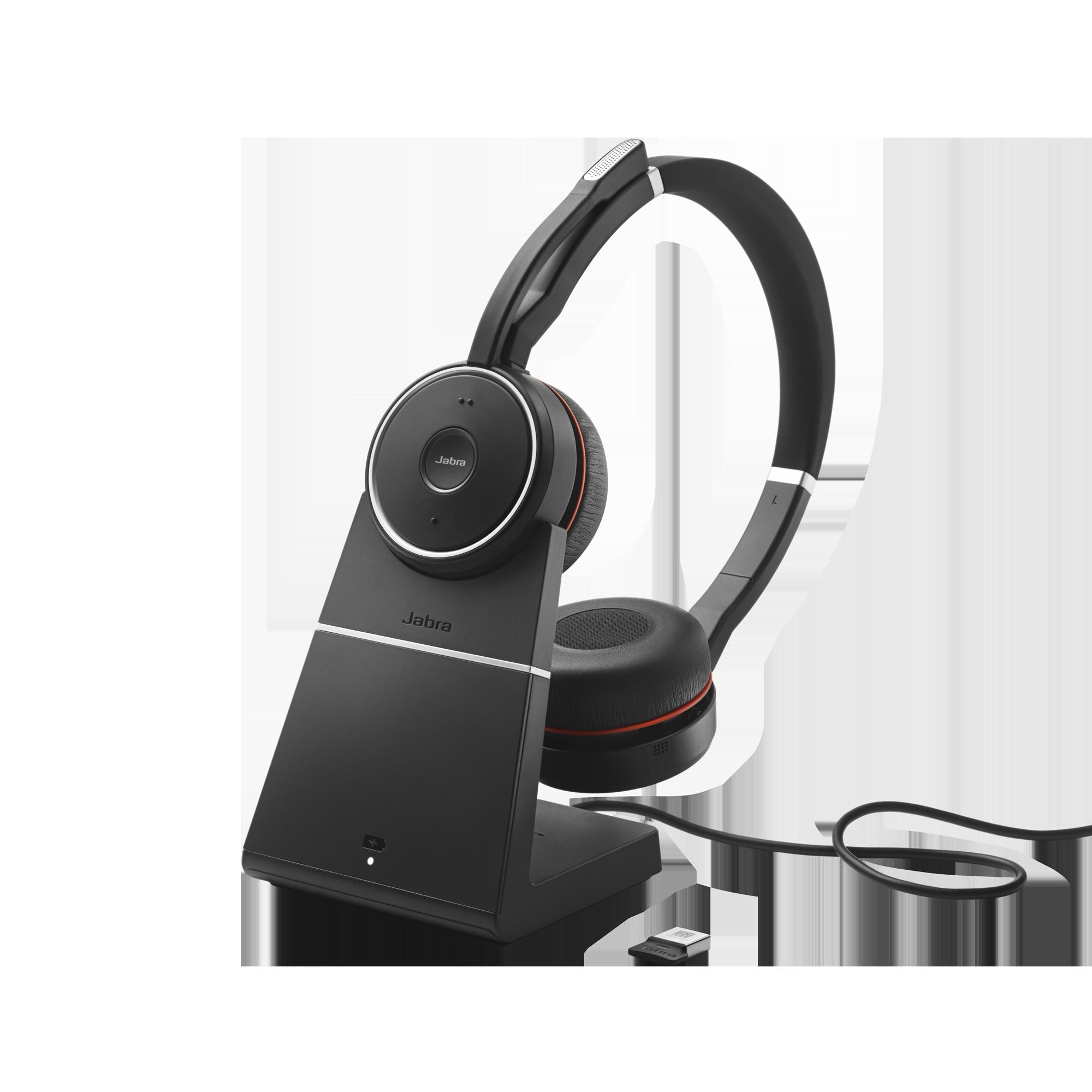 Jabra Evolve 75, Duo, USB-BT, MS, stojánek - 7599-832-199