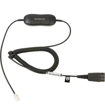 Jabra Smart Cord, QD-RJ9/10, 0,7-2m, coiled