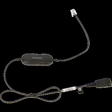 Jabra GN1210 cord, QD-RJ9, 0,8m, straight