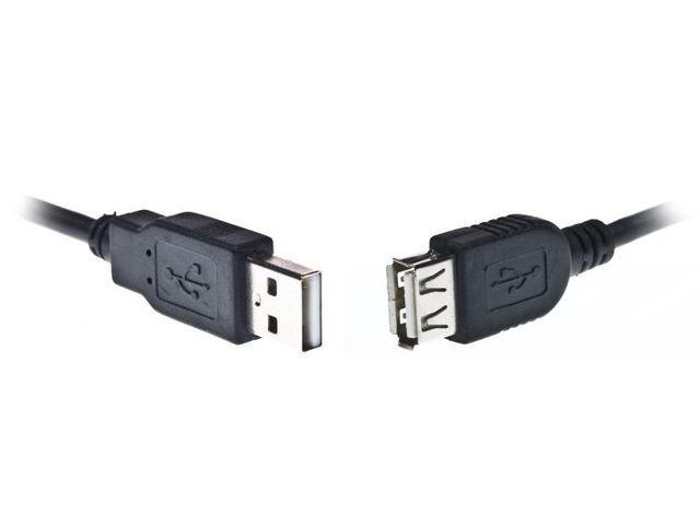 GEMBIRD kabel USB 2.0 AM-AF, 3m, černý -