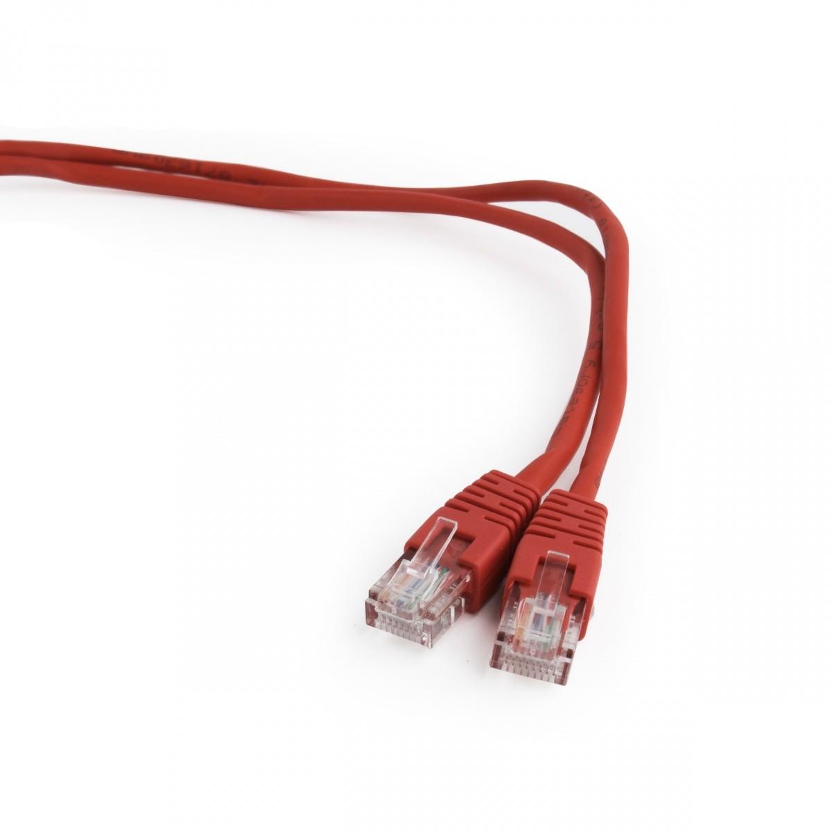 GEMBIRD Patch Kabel UTP CAT5e, 1,5m, červený