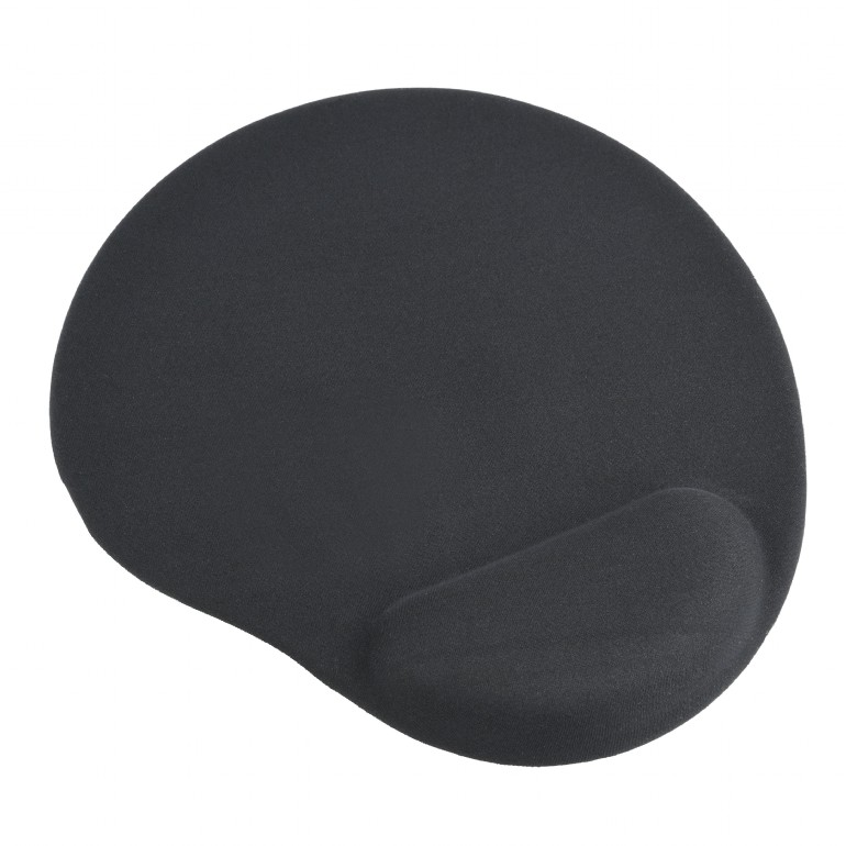 GEMBIRD podložka pod myš s podporou pro zápěstí, černá - MP-GEL-BK