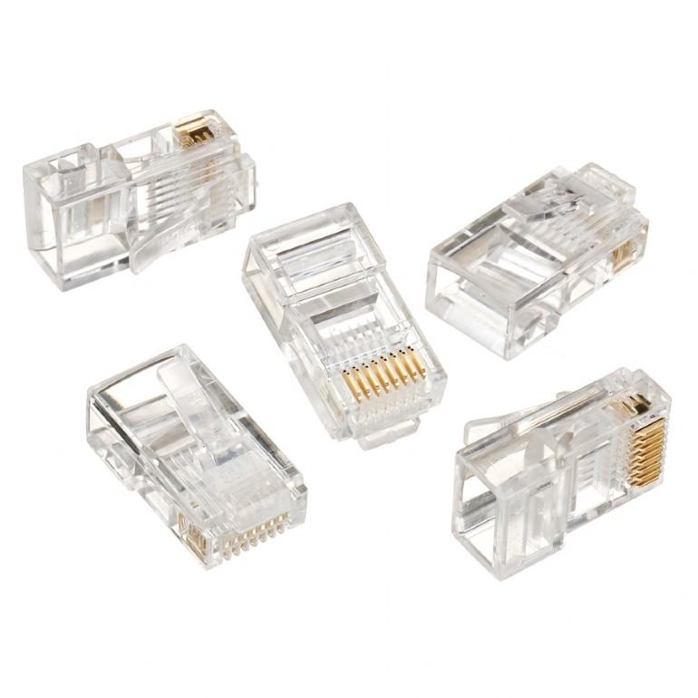 GEMBIRD Modular plug 8P8C for CAT5, UTP, 100 pcs - LC-8P8C-001/100