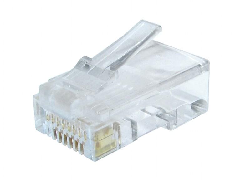GEMBIRD Modular plug 8P8C for CAT6, 100 pcs - LC-8P8C-002/100