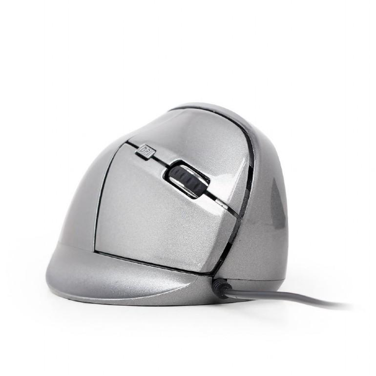 GEMBIRD vertikální optická myš, drátová, šedá