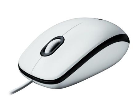 myš Logitech M100 optická, bílá, USB