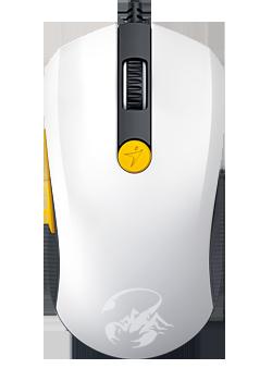 Myš GENIUS M8-610,USB white-orange