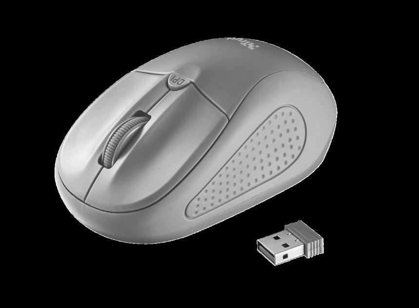 myš TRUST Primo Wireless Mouse - grey