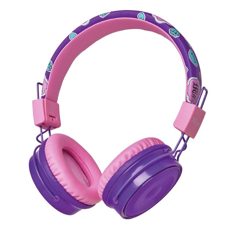TRUST Comi Bluetooth Wireless Kids Headphones - purple