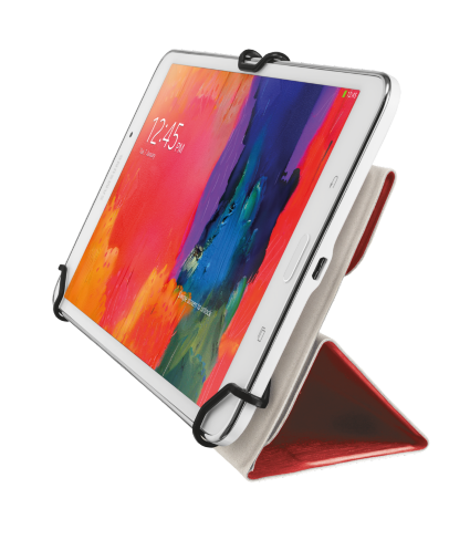 "TRUST Aexxo Universal Folio Case for 9.7"" tablets - red"