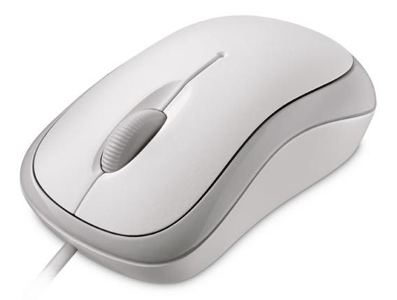 Microsoft Basic Optical Mouse Mac/Win USB, bílá