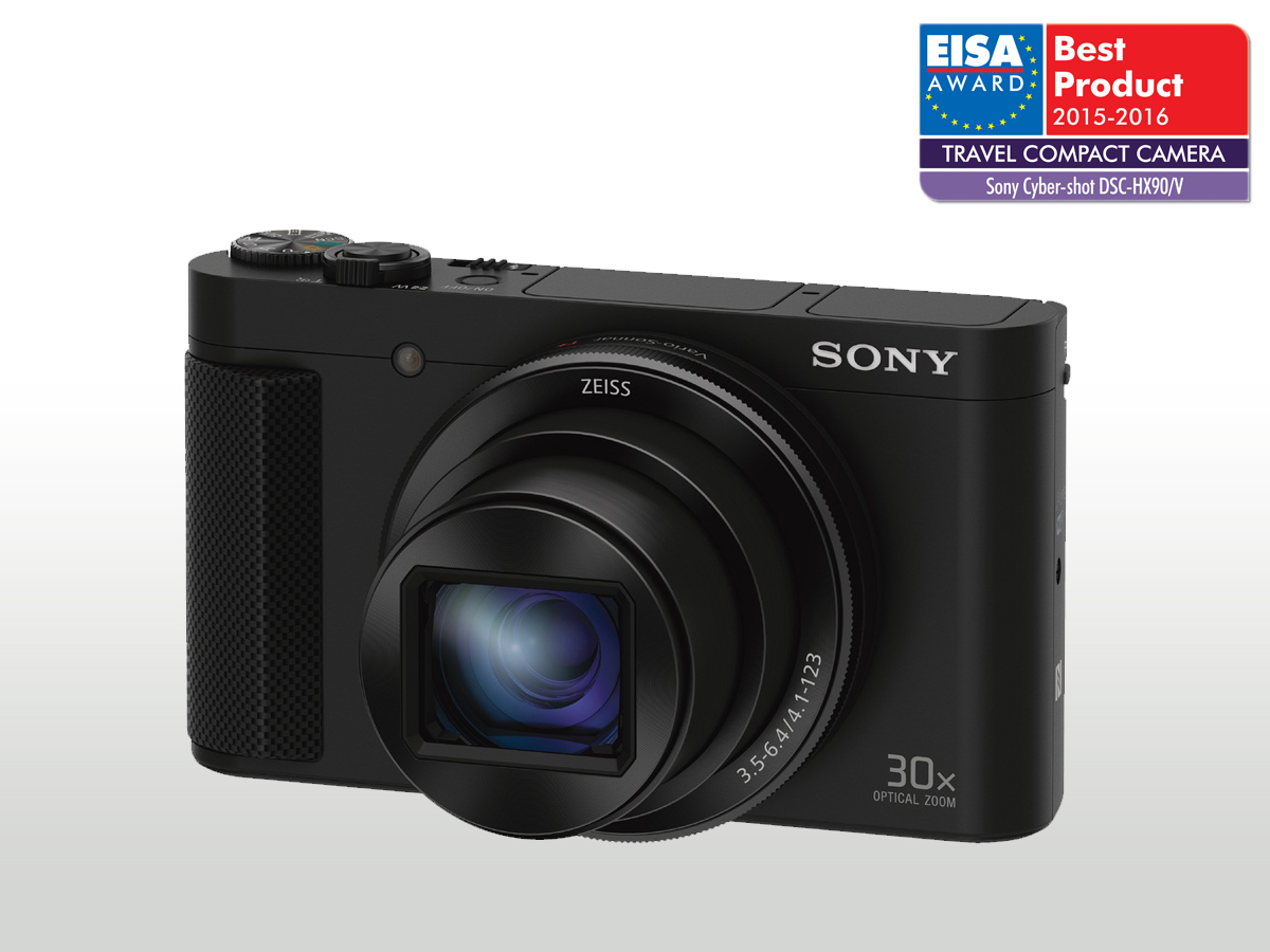 Sony DSC-HX90 černá,18,2Mpix,30xOZ,WiFi, hledáček