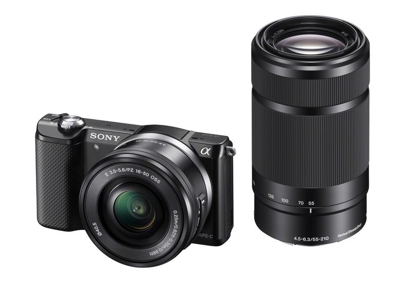 Sony A5000, 16-50+55-210mm, 20,1Mpix, černý