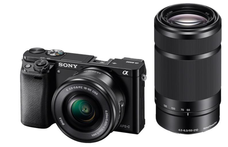 Sony A6000Y, 16-50+55-210mm, 24,3Mpix, černý - ILCE6000YB.CEC