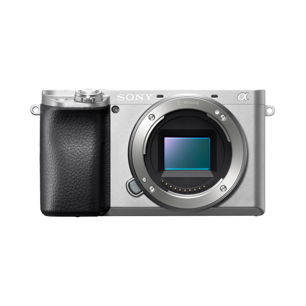 Sony A6100L ILCE, 24,2Mpix/4K, stříbrný 16-50mm - ILCE6100LS.CEC