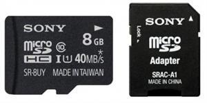 SONY microSD karta 8GB, class10, 90MB/s, adapter