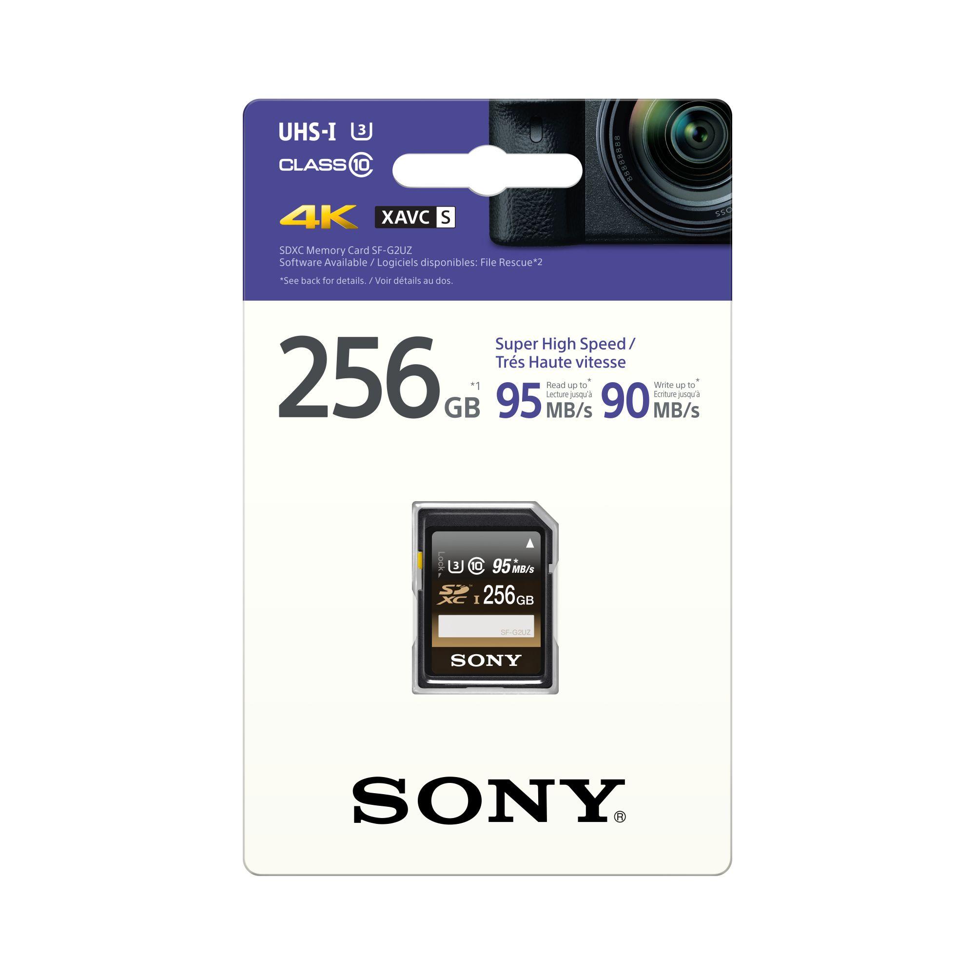 SONY SD karta SFG2UZ, 256GB,class 10,Pro 95MB/s,4K