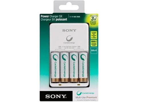 Sony NiMH Compact nabíječka BCG-34HH4KN,4x 2100mAh