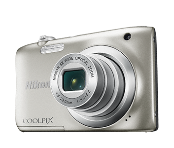 Nikon Coolpix A100 stříbrný, 20,1M, 5xOZ, HD Video