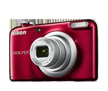 Nikon Coolpix A10 červený, 16,1M, 5xOZ, HD Video